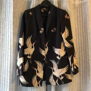 Flamingo print blazer for fun look!